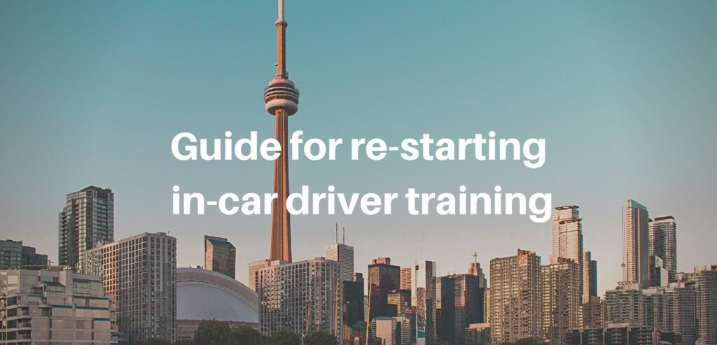 guide for restarting in-car driver training