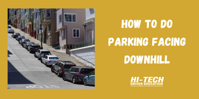 parking facing downhill