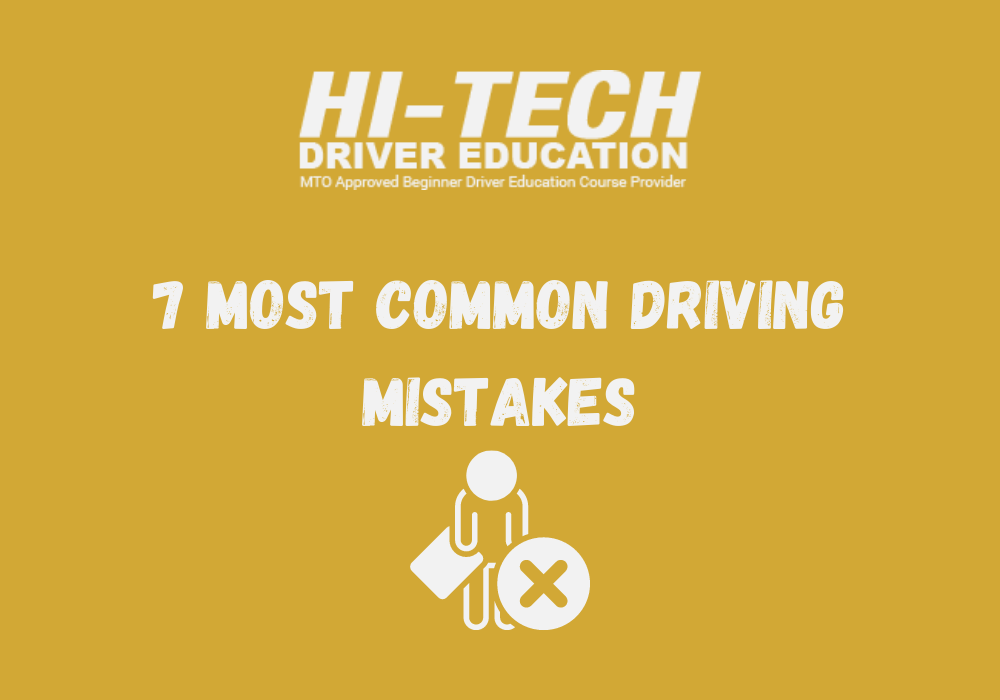 driving mistakes